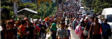 Miles de migrantes han atravesado México caminando en su intento de ingresar a Estados Unidos. (Foto Prensa Libre: Hemeroteca)