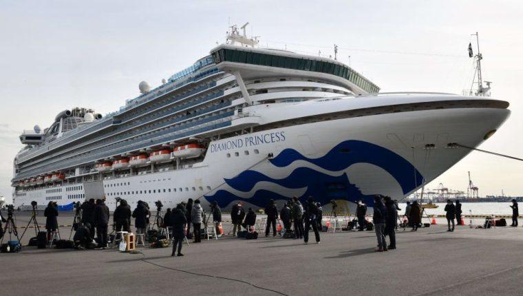 El crucero Diamond Princess está en cuarentena frente a la costa de Japón con 3.500 personas a bordo.