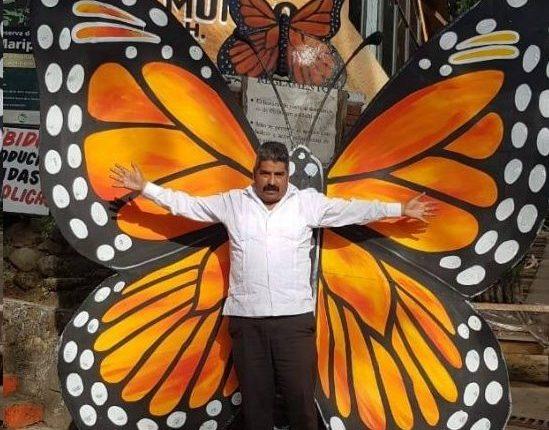 Homero Gómez fue un activo defensor de la mariposa monarca.