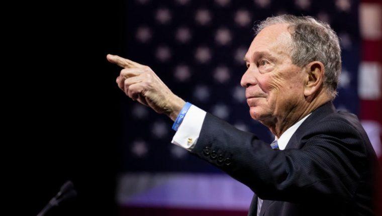 Bloomberg, de 78 años, es una de las personas más ricas del mundo. GETTY IMAGES