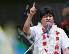 Evo Morales se encuentra como refugiado en Argentina.