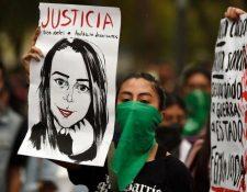 Miles de mujeres protestaron en México contra los feminicidios. GETTY IMAGES