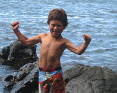 Joaquín, conocido como Puntito, dos días antes del tsunami en la isla Juan Fernández.