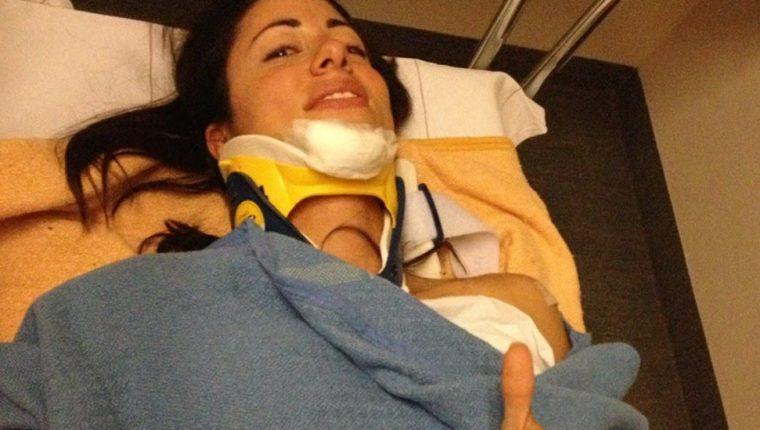 Susanne estuvo hospitalizada por varias semanas. SUSANNE NAJAFI