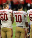 Garoppolo podría ser una  pesadilla para los Chiefs. (Foto Prensa Libre: AFP)