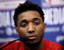 Donovan Mitchell de los Utah Jazz se encuentra en recuperación del coronavirus. (Foto Prensa Libre: AFP)