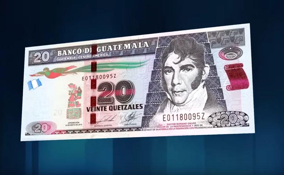 Banguat anuncia billete conmemorativo de Q20 por los 200 años de Independencia del país