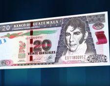 El billete de Q20 tendrá una versión conmemorativa. (Foto Prensa Libre: Hemeroteca PL)