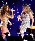 Shakira y Jennifer López con la canción de la discordia. Foto Prensa Libre: AFP