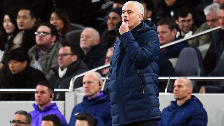 El portugués, Jose Mourinho, entrenador del Tottenham, asegura que la serie no está definida. (Foto Prensa Libre: EFE)