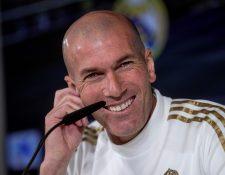El entrenador del Real Madrid, el francés Zinedine Zidane, confía en sus futbolistas. (Foto Prensa Libre: EFE)