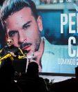 El cantante puertorriqueño Pedro Capó durante una rueda de prensa este sábado, un día antes del inicio del Festival Internacional de la Canción de Viña del Mar este sábado en la ciudad costera de Viña del Mar, Chile.  Foto Prensa Libre: EFE
