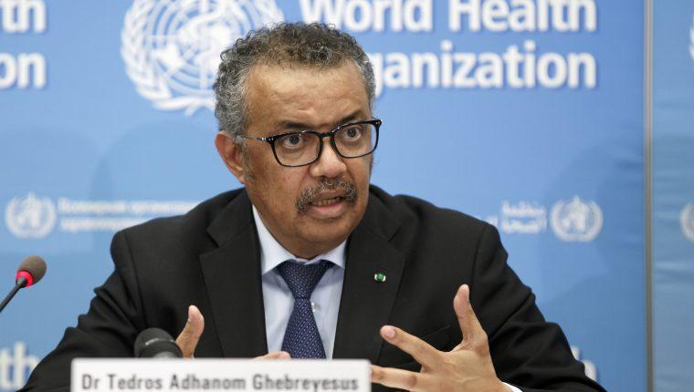 Tedros Adhanom Ghebreyesus, director general de la OMS. (Foto Prensa Libre: EFE).