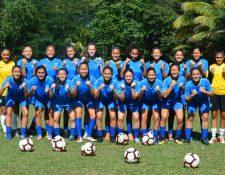 Las chicas de la Selección Nacional Sub 20 están en República Dominicana para pelear por un boleto al Mundial. (Foto Prensa Libre: Cortesía Tercer Tiempo)
