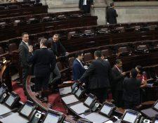 La agenda en el Congreso avanza lento en medio de la controversia por la elección de magistrados de Corte Suprema de Justicia y salas de Apelaciones. (Foto Prensa Libre: Érick Ávila )