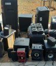 Equipo de sonido hallado en la cárcel El Infiernito. (Foto Prensa Libre: PNC).