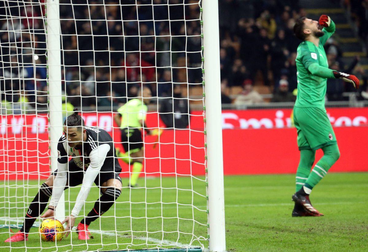 Cristiano da a la Juventus un empate 1-1 en la semifinal de ida ante el Milan