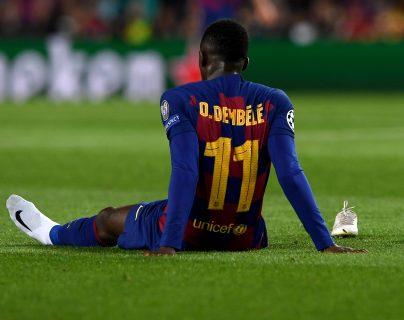 El francés Ousmane Dembélé se perderá la Eurocopa con su Selección. (Foto Prensa Libre: AFP)