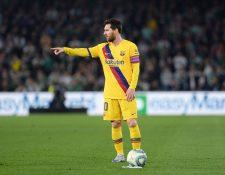 Lionel Messi se mantiene en la cima de la tabla de goleadores. (Foto Prensa Libre: AFP)