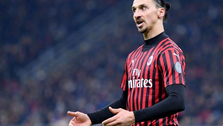 Zlatan Ibrahimovic tiene un futuro incierto con el AC Milán. (Foto Prensa Libre: AFP)