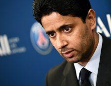 Nasser Al-Khelaifi, presidente del PSG salió bien librado. (Foto Prensa Libre: AFP)