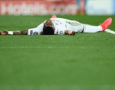 Vinicius Junior reaccionó contra el arbitraje en la Champions League. (Foto Prensa Libre: AFP)
