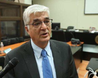 Exministro Carlos Vielmann asiste a audiencia de fase intermedia por el Caso Pavón