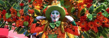 Color y algarabía en el Carnaval Mazateco 2020. Fotografía Prensa Libre: Marvin Túnchez.