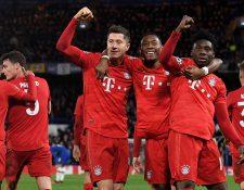 Los jugadores del Bayern vivieron una noche mágica. (Foto Prensa Libre: EFE)