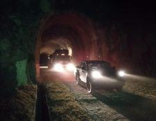 Maquinaria llega a la Bocatoma de la Hidroeléctrica Chixoy para inspeccionar túnel. (Foto, Prensa Libre: Inde).