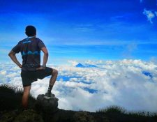 Erick Ajtún se ha especializado en competencias de montaña donde ha destacado en carreras nacionales e internacionales. (Foto Prensa Libre: Cortesía)
