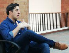 Alejandro Diamanti, activista de derechos humanos especializado en no violencia. (Foto Prensa Libre: Francisco Mauricio MartÏnez)