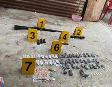 Droga incautada durante los operativos del MP y PNC.(Foto Prensa Libre: cortesía PNC)