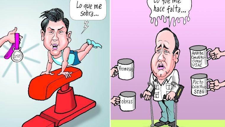 Personajes: Jorge Vega y Alejandro Giammattei.