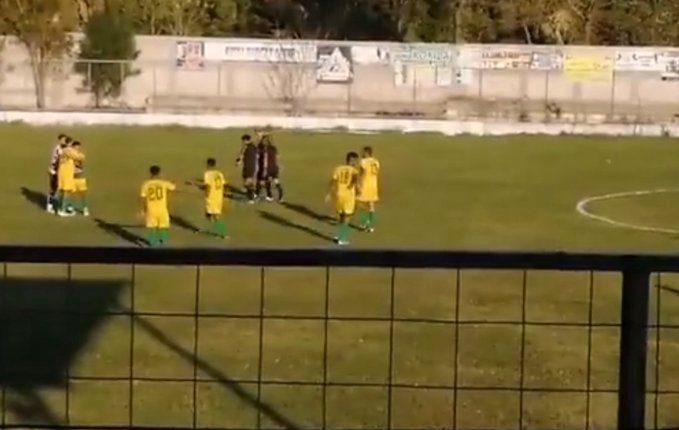 Esta es la tripleta arbitral del partido entre CSD Ipala y Agua Blanca. (Foto Prensa Libre: Captura de pantalla)
