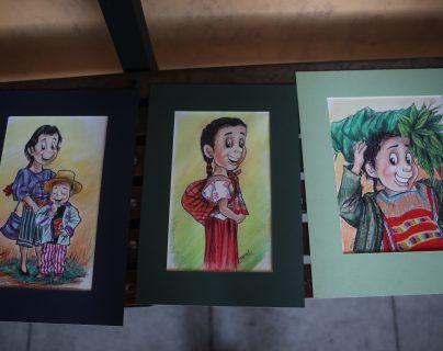 Artista quetzalteco expondrá caricaturas sobre la niñez en Guatemala