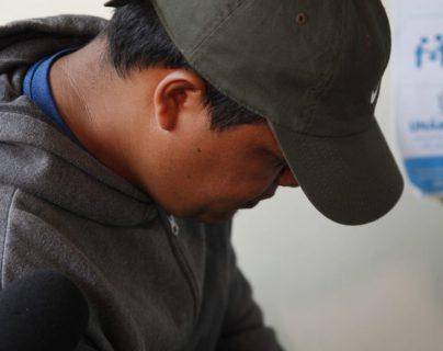 Édgar Leonel Marroquín Barrera en el juzgado este jueves. (Foto Prensa Libre: Noé Medina).