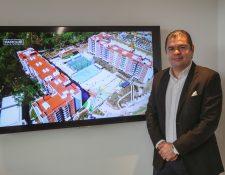 Jorge Valdez, gerente de comercialización regional de vivienda Spectrum. Foto Prensa Libre: Norvin Mendoza