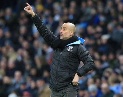 Pep Guardiola, entrenador del Manchester City. (Foto Prensa Libre: AFP)