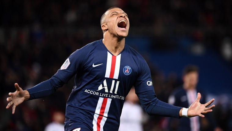 Kylian Mbappé festejó un doblete frente al Dijon. (Foto Prensa Libre: AFP)