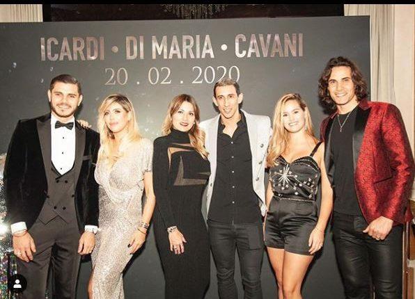La fiesta de cumpleaños de Mauro Icardi, Ángel de María y Edison Cavani. (Foto Prensa Libre: Instagram de Icardi)