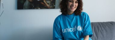 Gaby Moreno es nombrada embajadora de buena voluntad de Unicef. Es la primera guatemalteca en tener ese cargo. (Foto Prensa Libre: Keneth Cruz)