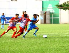 Iztapa logró tres puntos valiosos en su visita al Estadio Municipal de Sanarate. (Foto Prensa Libre: Luis López)