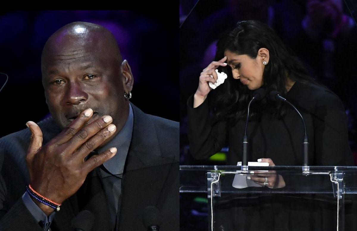 El emotivo discurso de Vanessa Bryant y Michael Jordan en el tributo a Kobe Bryant que terminó en lágrimas