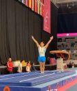 El atleta guatemalteco Jorge Vega participó en la final de piso en la Copa Mundial de Gimnasia 2020 en Australia. (Foto Prensa Libre: Twitter World Cup Gymnastics)
