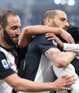 Los jugadores de la Juventus celebran el triunfo frente al Brescia. (Foto Prensa Libre: EFE)