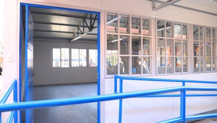 Uno de los módulos educativos que fue inaugurado en Salcajá, Quetzaltenango. (Foto Prensa Libre: Cortesía).