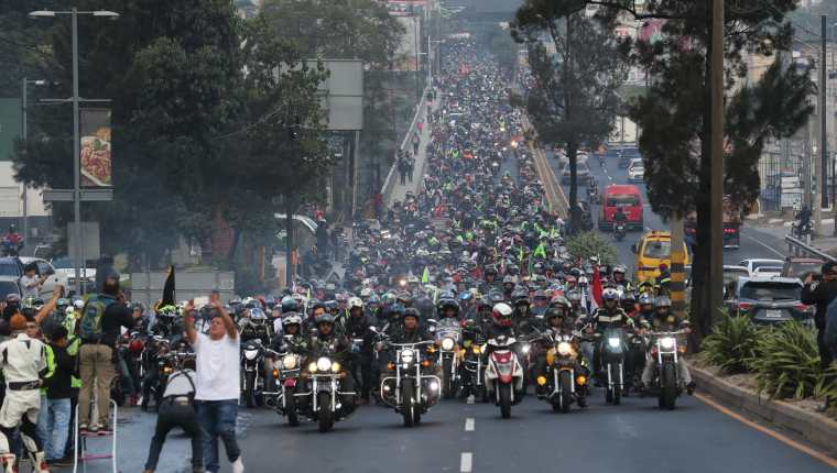 Treinta y Cinco mil motoristas participan en la 59 edición de la Caravana del Zorro que se llevó a cabo en febrero de 2020. (Foto Prensa Libre: Hemeroteca)