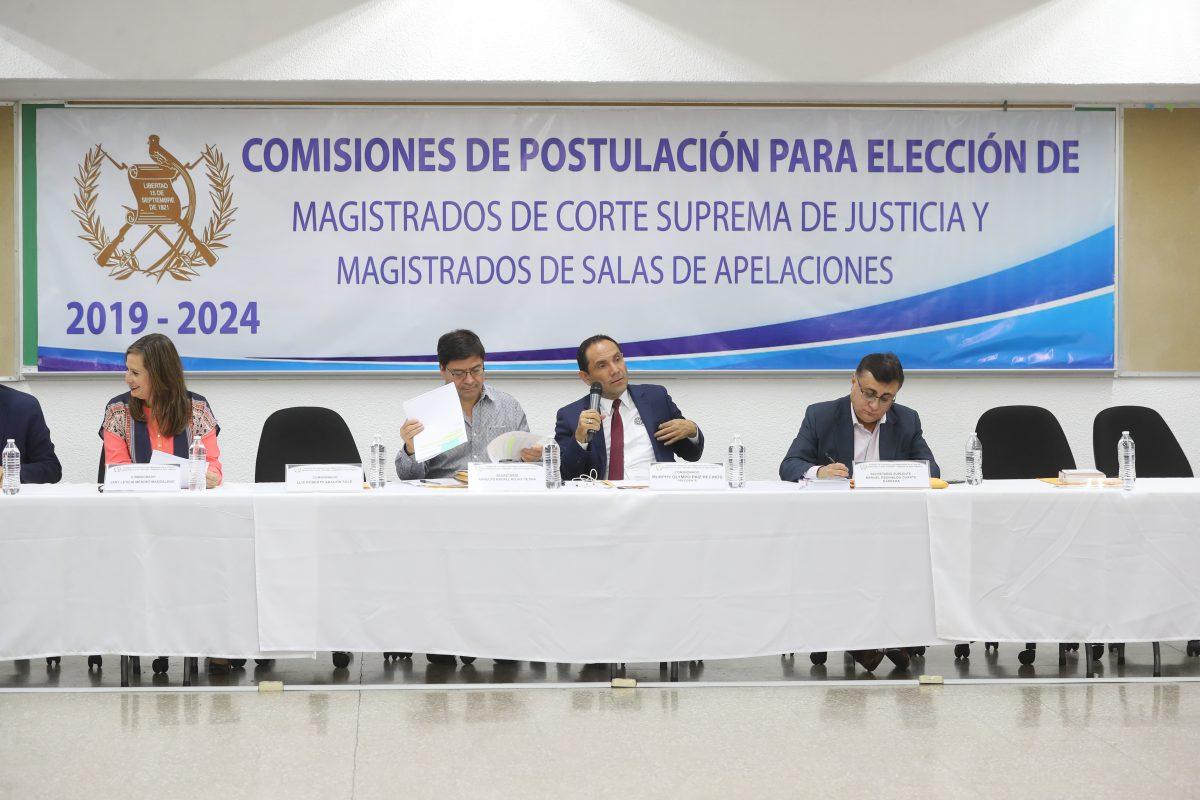 Sectores instan a comisionados a votar por candidatos a salas de Apelaciones idóneos y no por presiones gremiales