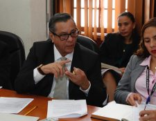 Héctor Castillo, jefe de la SAAS, durante la citación en la bancada URNG el 3 de febrero de 2020. (Foto Prensa Libre: Noé Medina).
